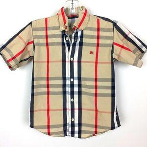 Burberry Boys Short Sleeve Shirt 8 Y